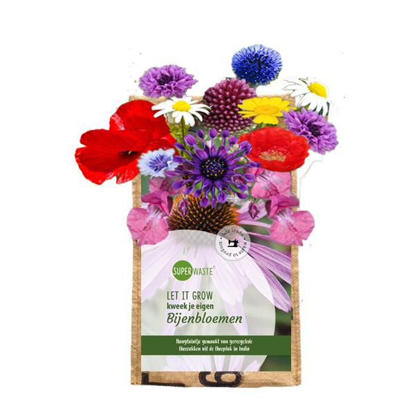 hangtuintje bijenmix bloemen superwaste