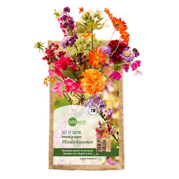 hangtuintje vlinderbloemen gerecycled superwaste